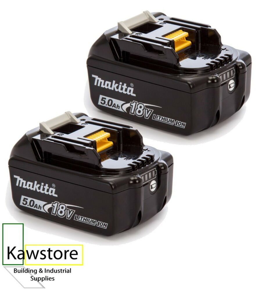 Two Makita Bl1850b Li Ion Batteries Charge Indicator 18
