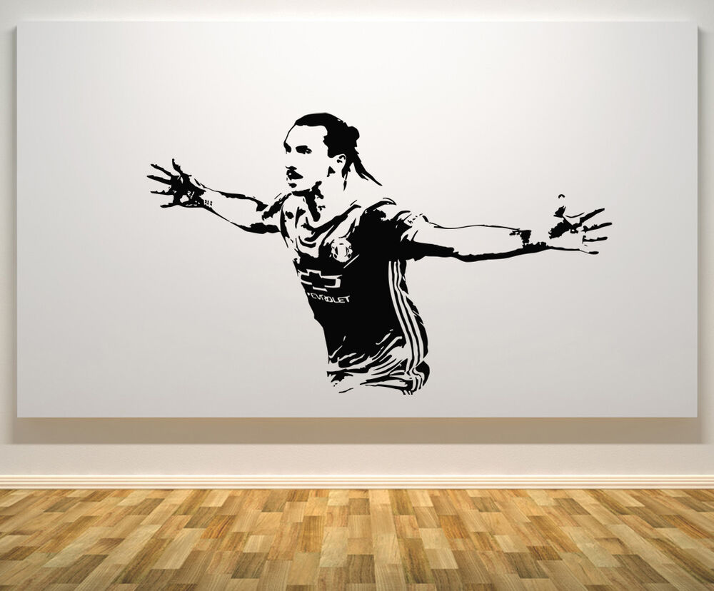 Zlatan ibrahimovic manchester united football player decal for Man u bedroom accessories