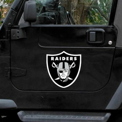 Oakland raiders 12 logo car truck auto vinyl magnet ebay for Outboard motor shop oakland