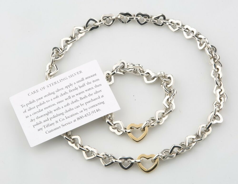 Tiffany Amp Co Sterling Silver Amp 18k Yellow Gold Heart