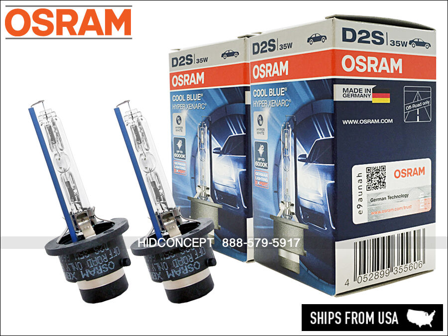 2x new osram 66240 cbh 6000k d2s hid xenon bulbs cool. Black Bedroom Furniture Sets. Home Design Ideas