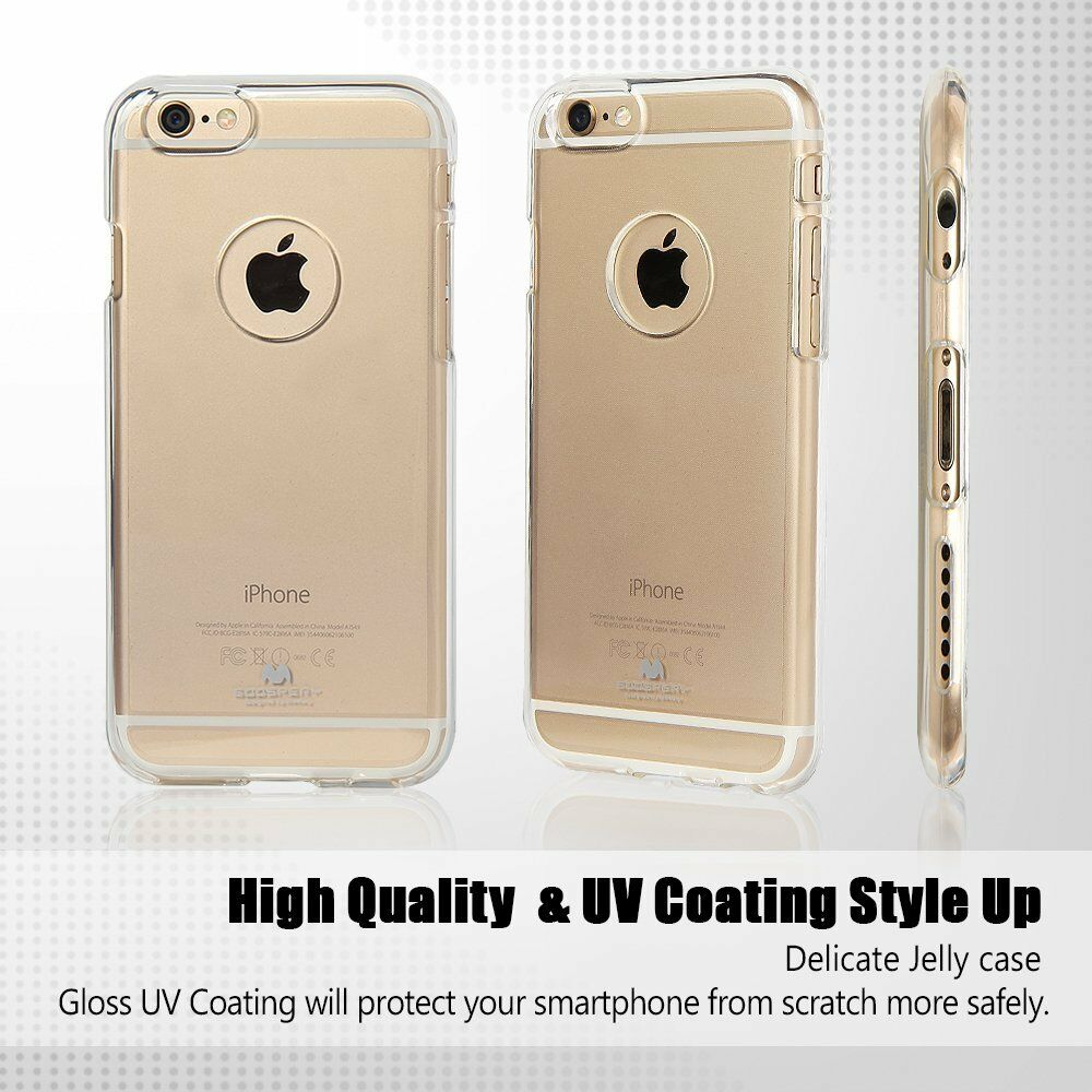Iphone 6 6s Genuine Mercury Goospery Clear Case Cover With Apple X Pearl Jelly Red Logo Cutout Ebay