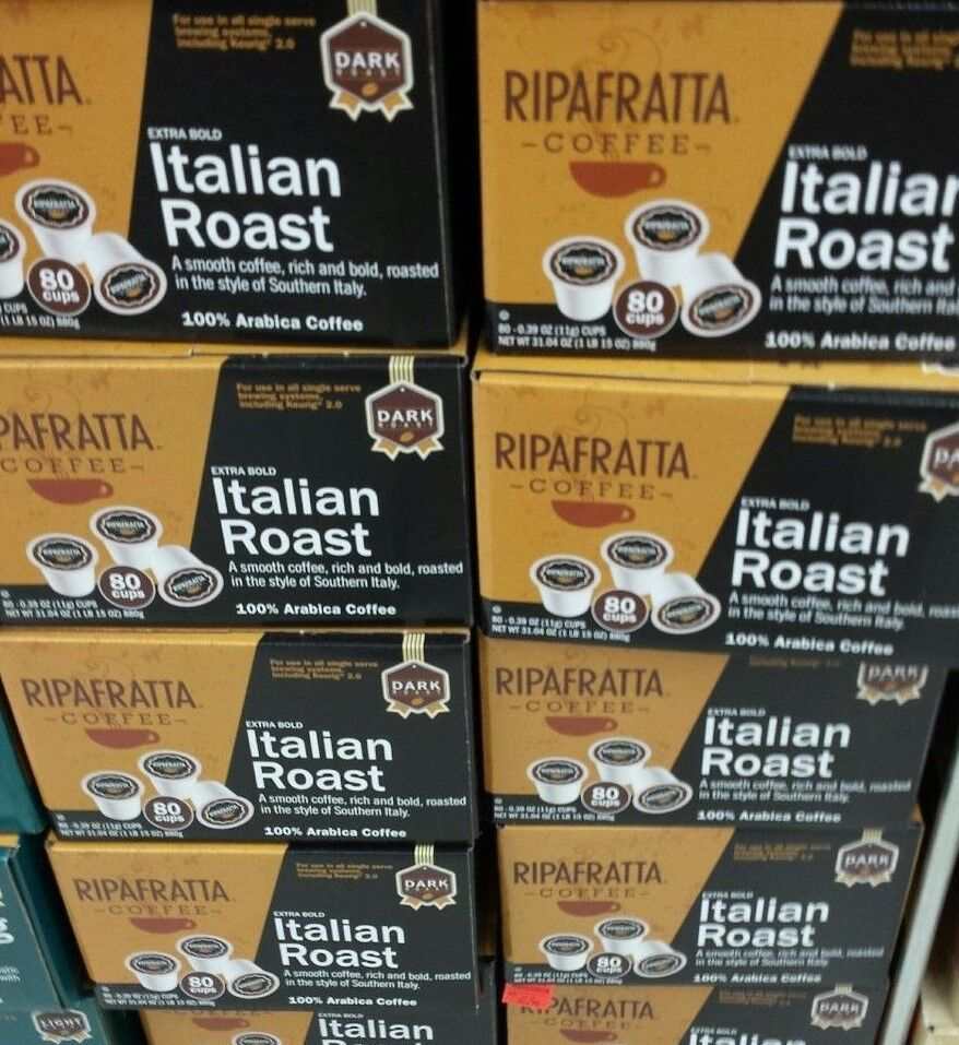 Ripafratta Italian Roast Coffee Single Serve K Cup 80