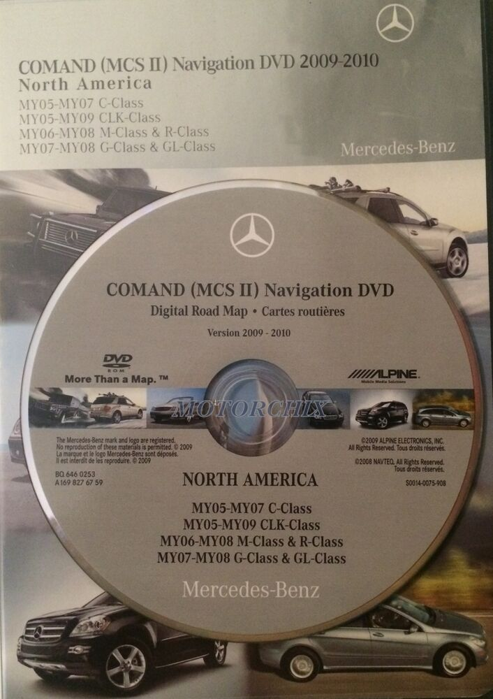 mercedes gl ml g clk c class comand mcsii 2013 update navigation dvd map oem ebay. Black Bedroom Furniture Sets. Home Design Ideas