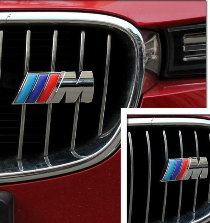 Grill Frontgrill Metal Emblem Badge Decal For Bmw M Logo