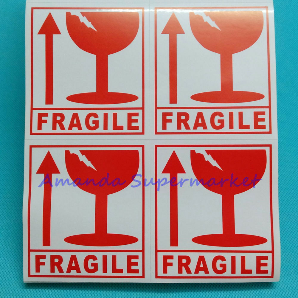 300pcs Fragile Warning Label Sticker Handle With Care