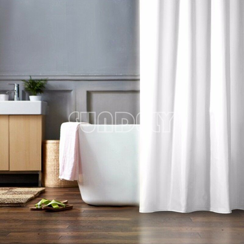 Quality Xl Large Extra Long Wide White Polyester Shower Curtain 240 220 200 190 Ebay