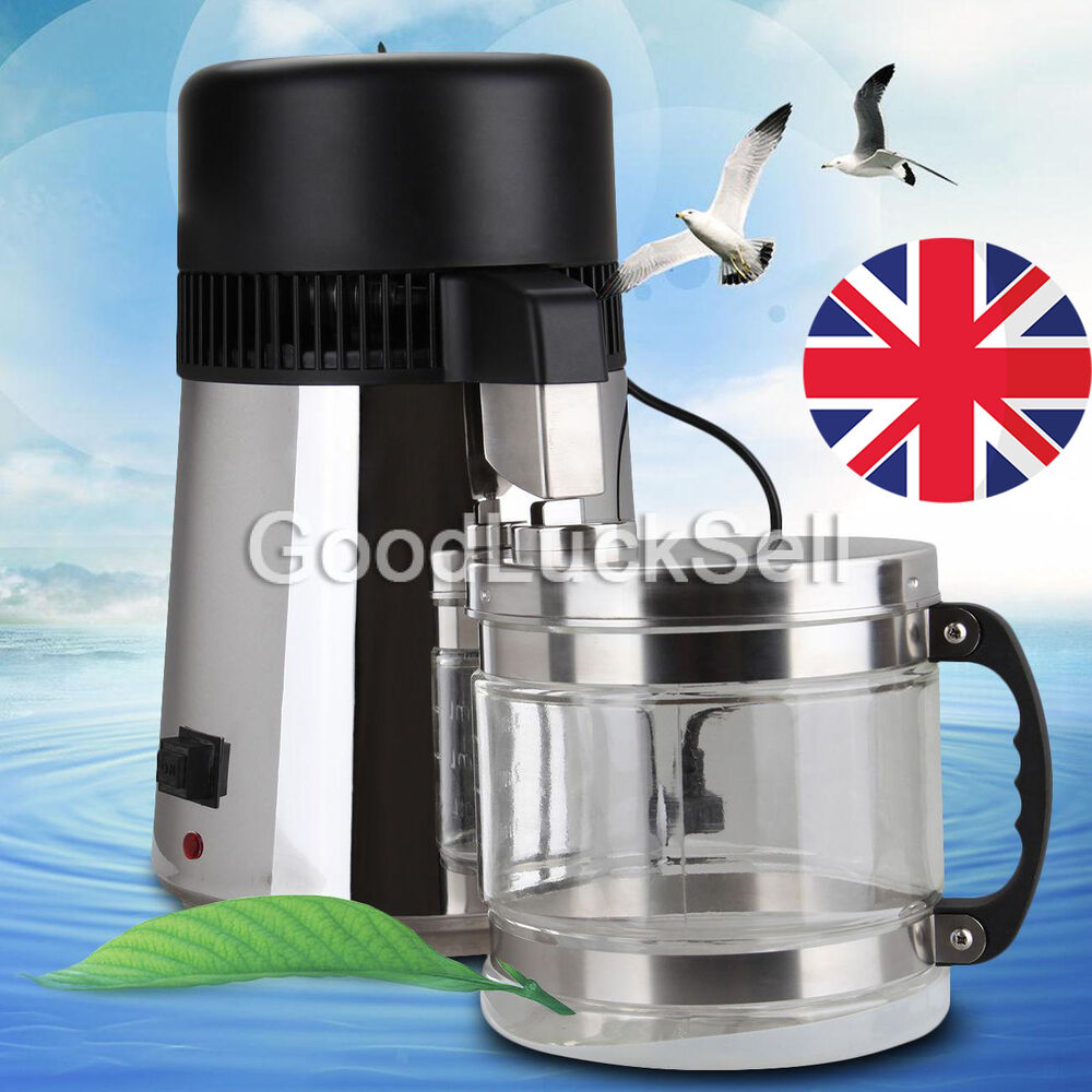 Stainless Steel Water Distiller ~ L pure water distiller stainless steel glass jar
