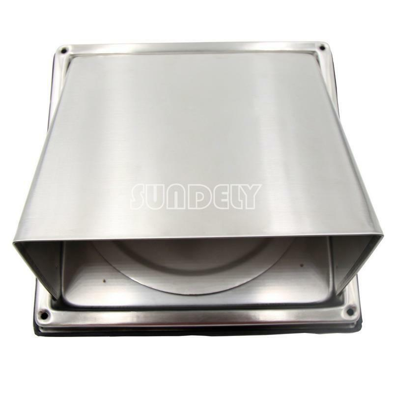 Sundely Hi Q Stainless Steel Wall Air Vent Square Metal