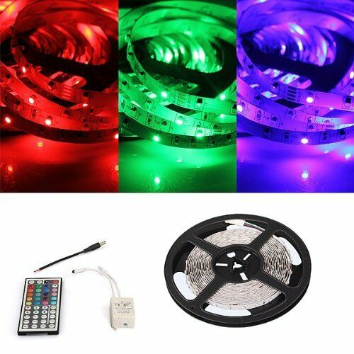 5m 300 3528 smd led lichterkette lichtleiste strip rgb dc 12v mit fernbedienung 4894462091593 ebay. Black Bedroom Furniture Sets. Home Design Ideas