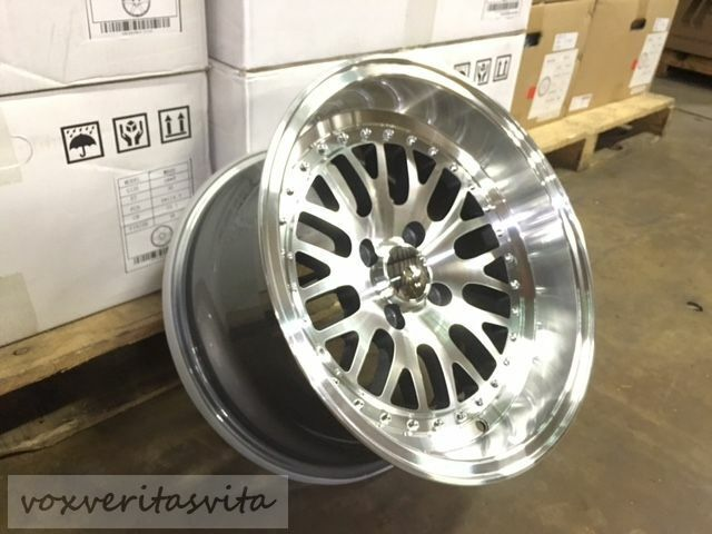 What Tires Fit My Car >> LM20 STYLE 15X8 +0 SILVER WHEELS RIMS BIG LIP DEEP DISH ...