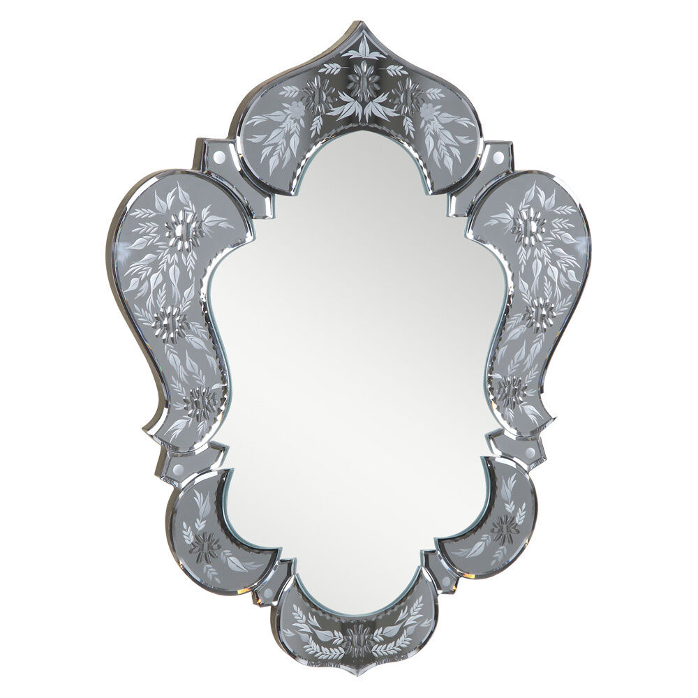 Venetian Style Mirror Vanity Bathroom Wall Gray Silver