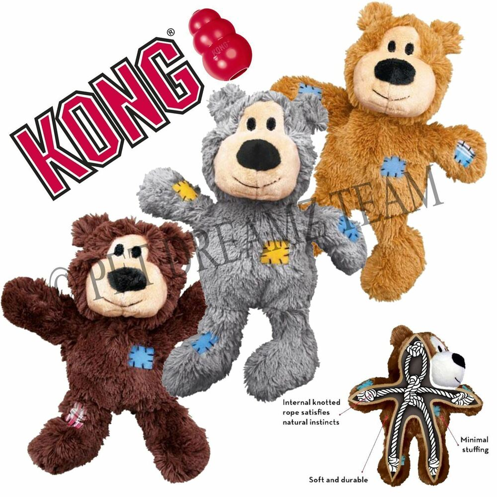 Bigg Dog Toy : Kong wild knots bear plush squeaky xl dog toy for big