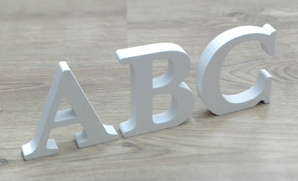 Reduced free standing white wooden mdf letters now gbp150 for Large freestanding wooden letters