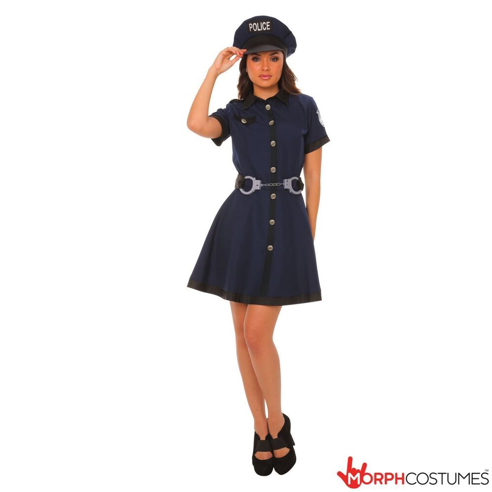 Sexy Cop Fancy Dress Costume Costume Police Woman Fantasy -2702