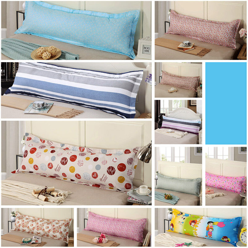 new large 18 x47 59 71 bed pillowcase body pillow zipper protector case cover ebay. Black Bedroom Furniture Sets. Home Design Ideas