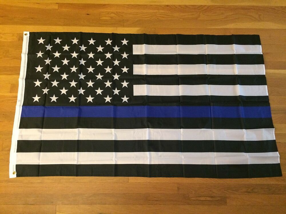Thin Blue Line Flag Flags 3 X 5 Police Support Law ...