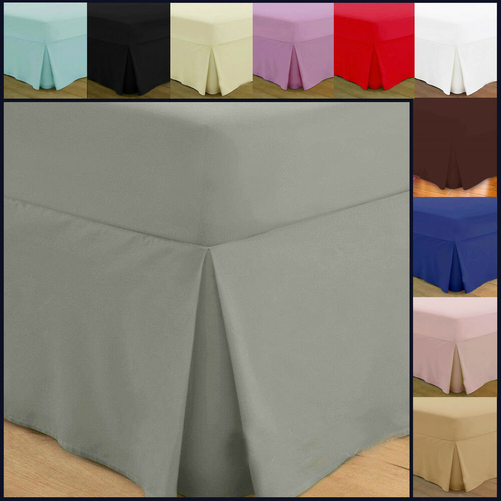 Fitted valance sheets egyptian cotton bedding double for Divan valance sheet
