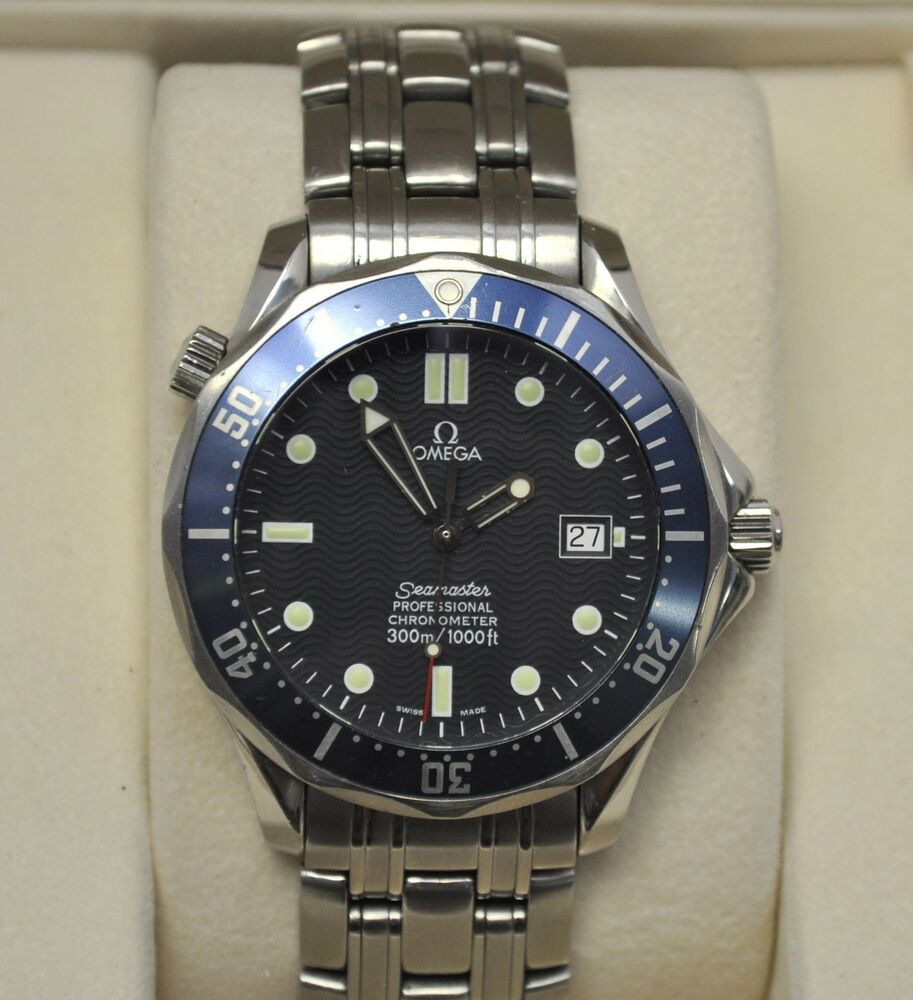 Omega seamaster professional automatic 300m black dial 41mm bond watch 735520649636 ebay for Omega seamaster professional