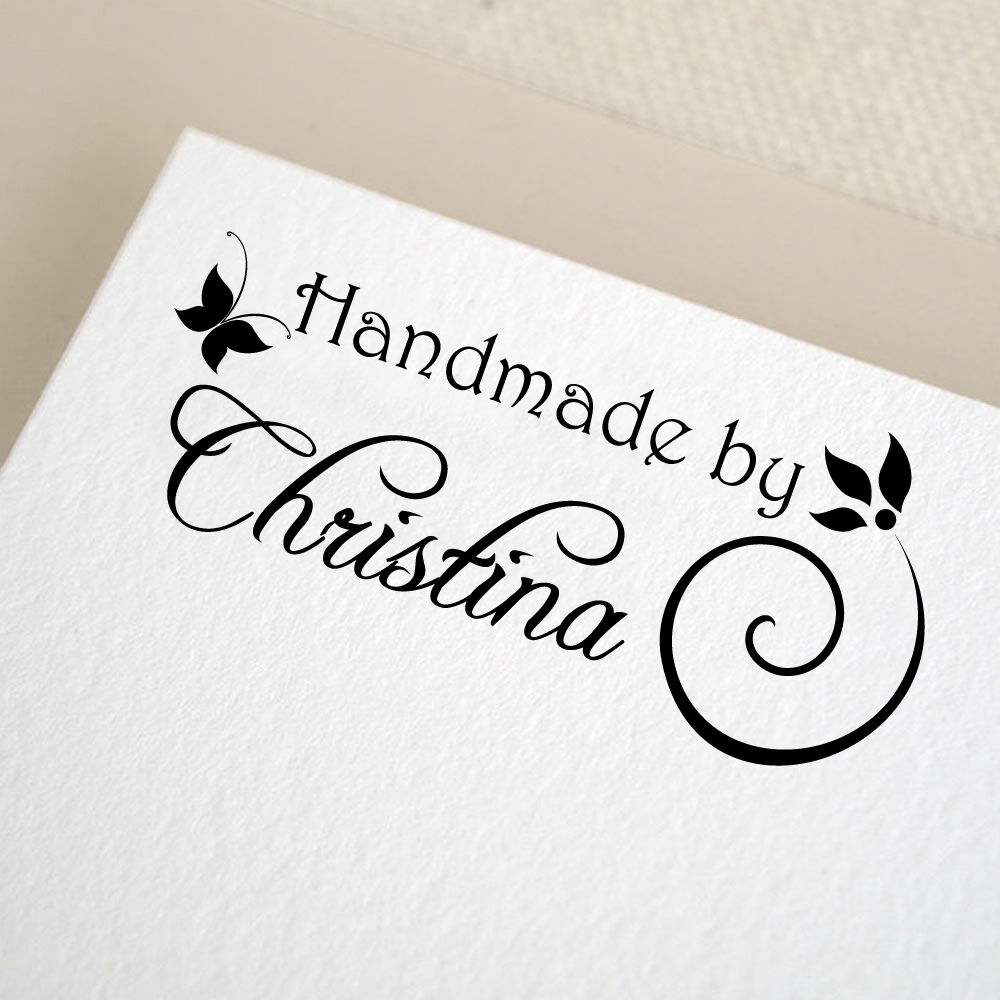 Personalized custom made name mounted rubber stamp re16 ebay for Custom craft rubber stamps