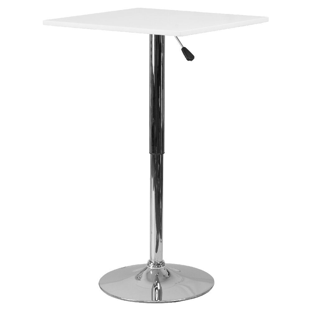 Adjustable Bar Table Pub Height Drinks Cocktail Square