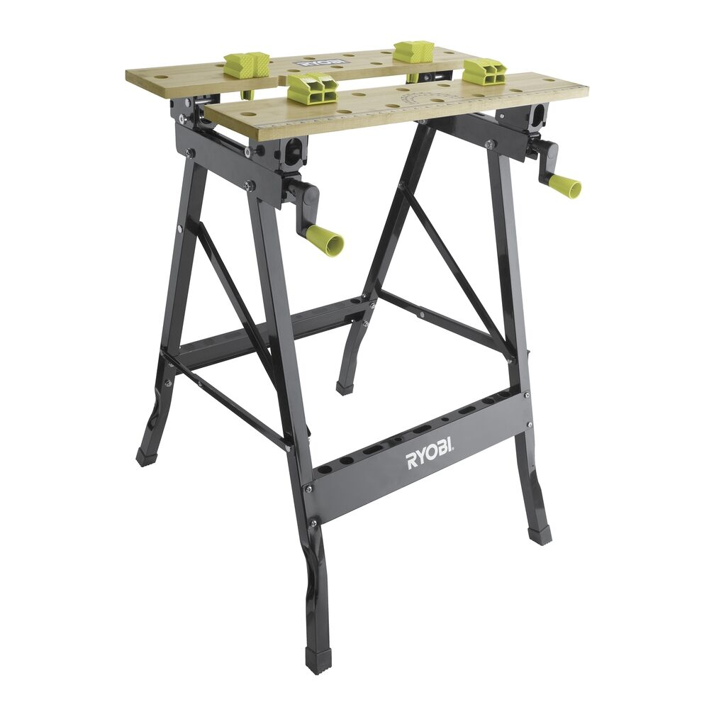 Ryobi Foldable Workbench Rwb001 Adjustable Angle Portable Black Ebay