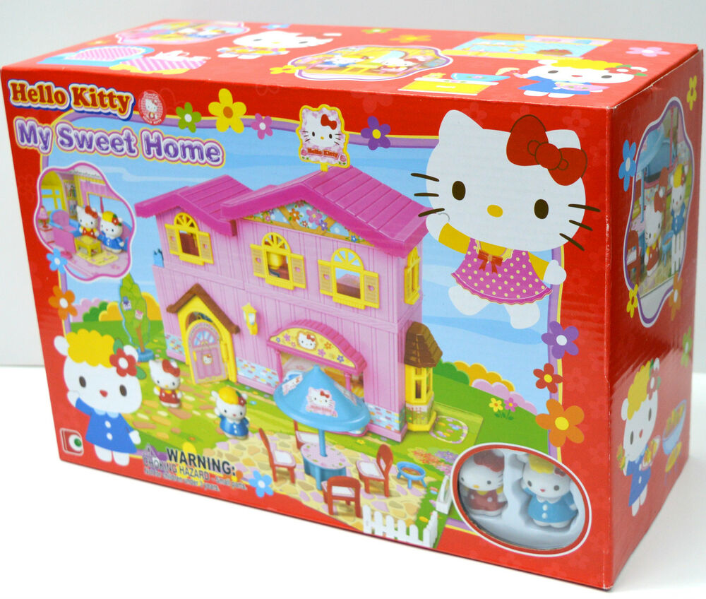 hello kitty my sweet home playset ebay. Black Bedroom Furniture Sets. Home Design Ideas
