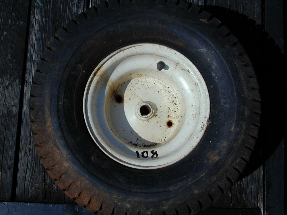 Lawn Tractor Rear Rims : Sears craftsman riding lawn mower rear tire wheel