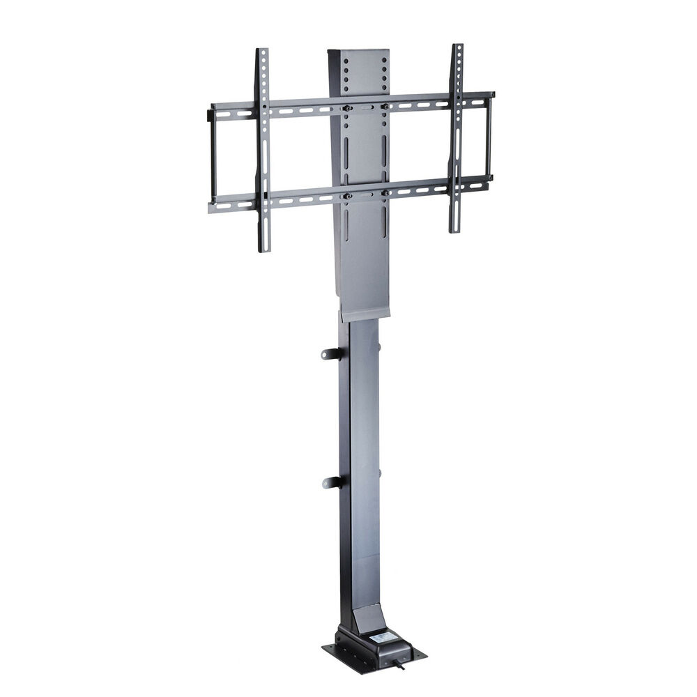 Motorized 32 50 flat tv lifting stand bracket w remote for Motorized flat screen tv lift