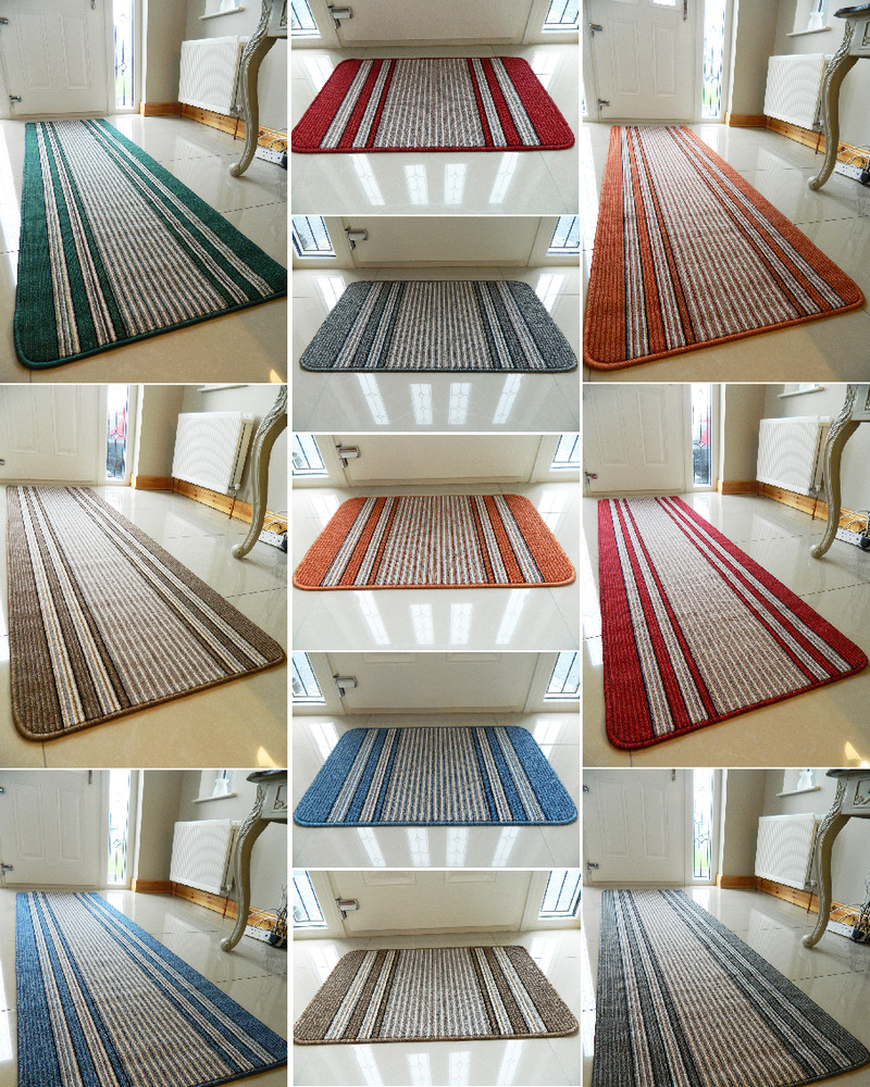 Washable Hall Rugs: Non Slip Washable Kitchen Utility Colourful Modern Long
