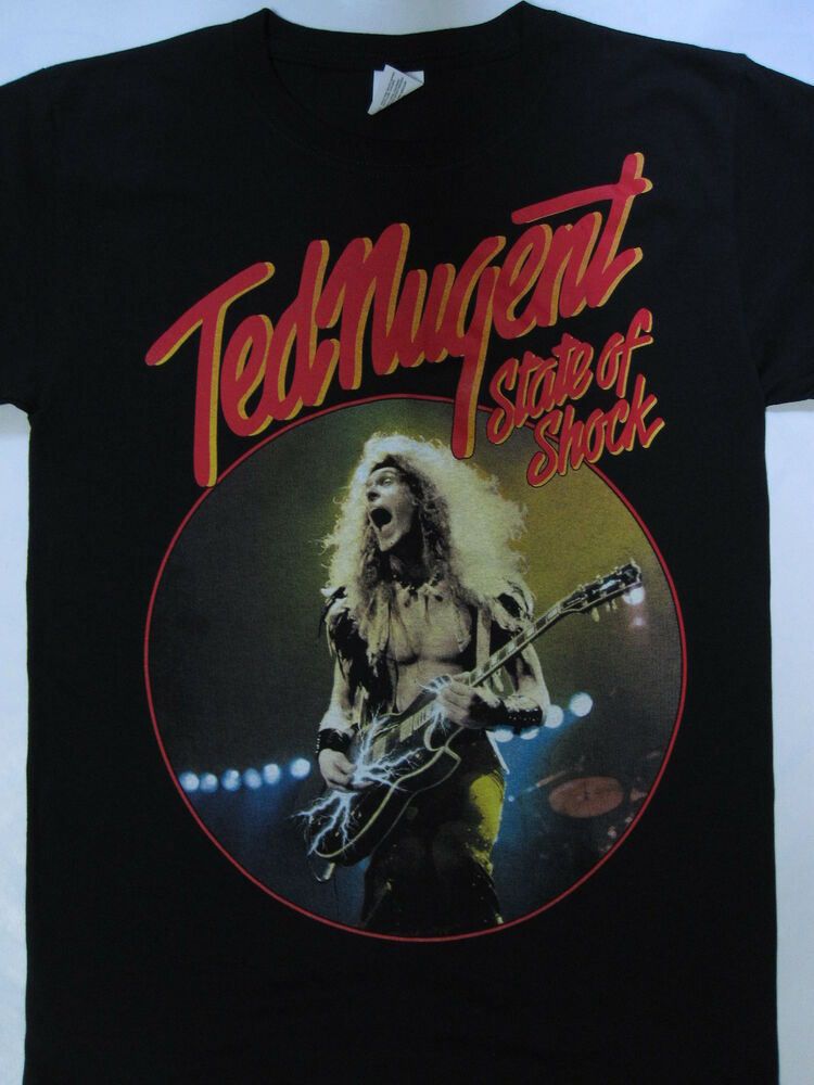 ted nugent state of shock tour 39 79 t shirt s xxxl ebay. Black Bedroom Furniture Sets. Home Design Ideas