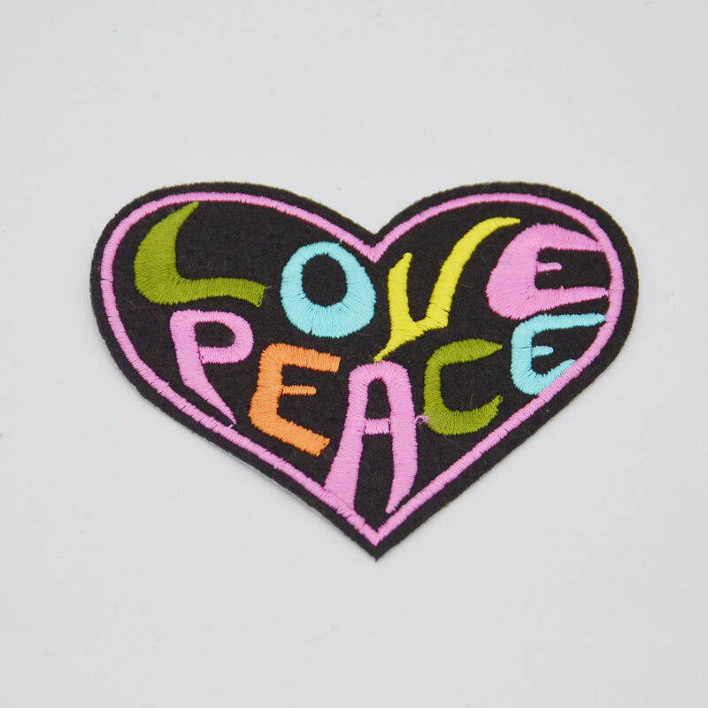 embroidered letter patches peace letter embroidered cloth iron on patch sew 21477