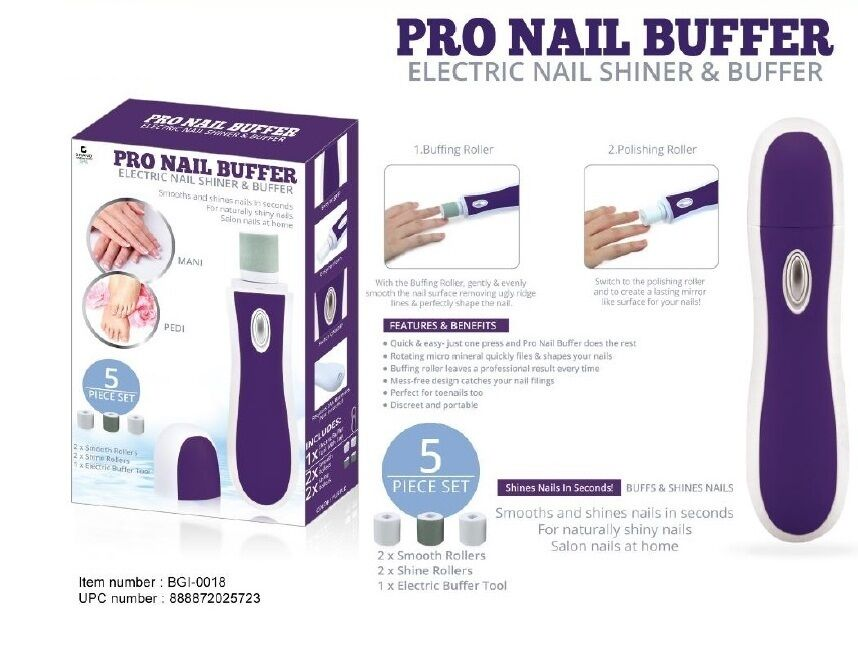 Pro Nails Electric Buffer Smoother & Electric Nail Shiner Perfect ...