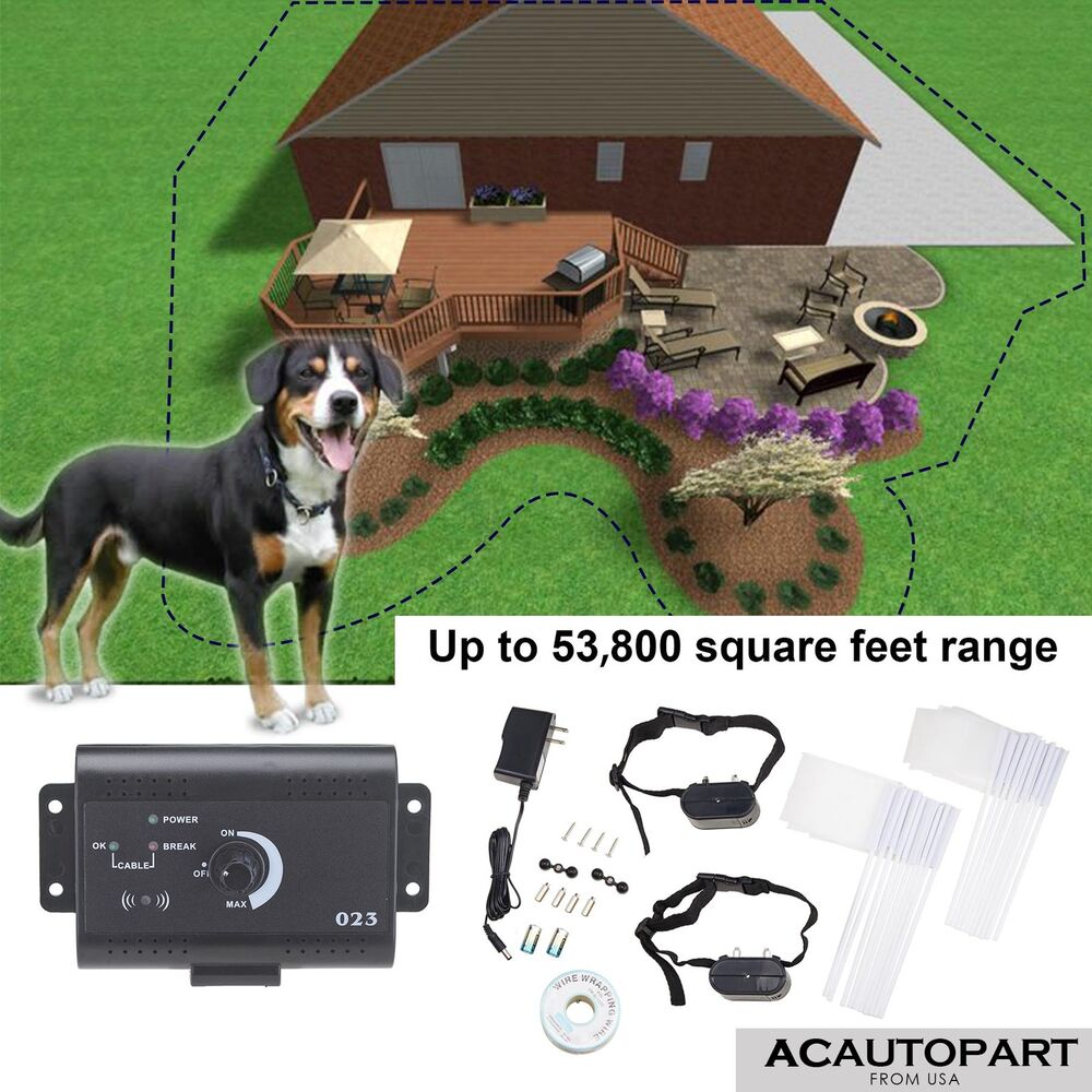 In Ground Dog Pet Electronic Fence System With1 2 3