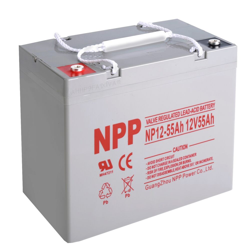 npp 12v 55 amp 12 volt 55ah 60ah ups deep cycle rechargeable agm battery ebay. Black Bedroom Furniture Sets. Home Design Ideas