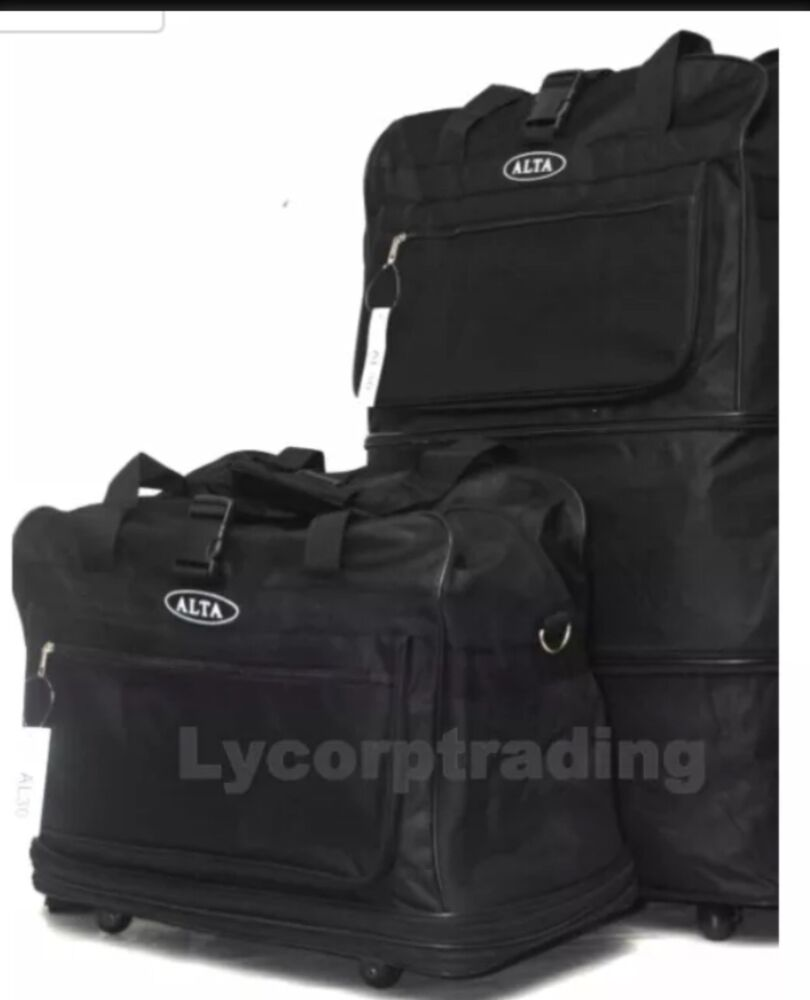 40 black large rolling wheeled duffel bag spinner. Black Bedroom Furniture Sets. Home Design Ideas
