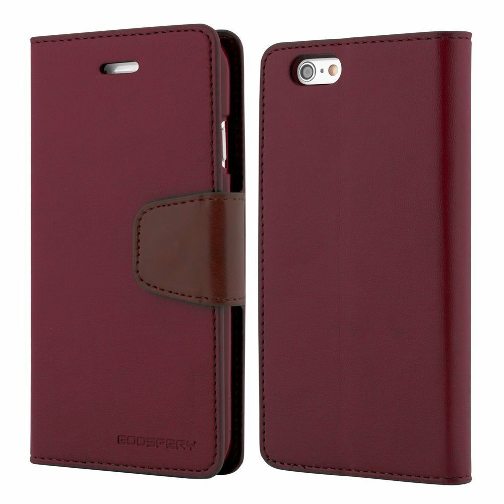 Genuine mercury goospery leather flip case wallet cover for apple iphone 5 5s se ebay - Iphone 5s leather case ...