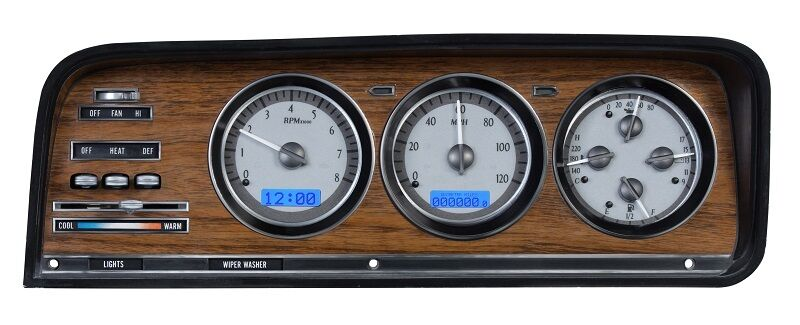 Jeep Digital Gauges : Dakota digital jeep grand wagoneer analog dash