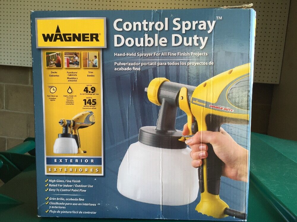 wagner 0518050 control spray double duty paint sprayer new ebay. Black Bedroom Furniture Sets. Home Design Ideas