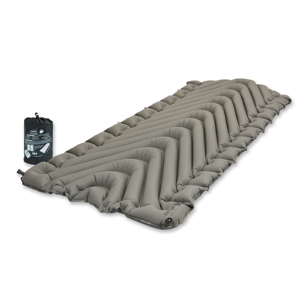 Klymit Static V Luxe Compact Inflatable Sleeping Mat Grey
