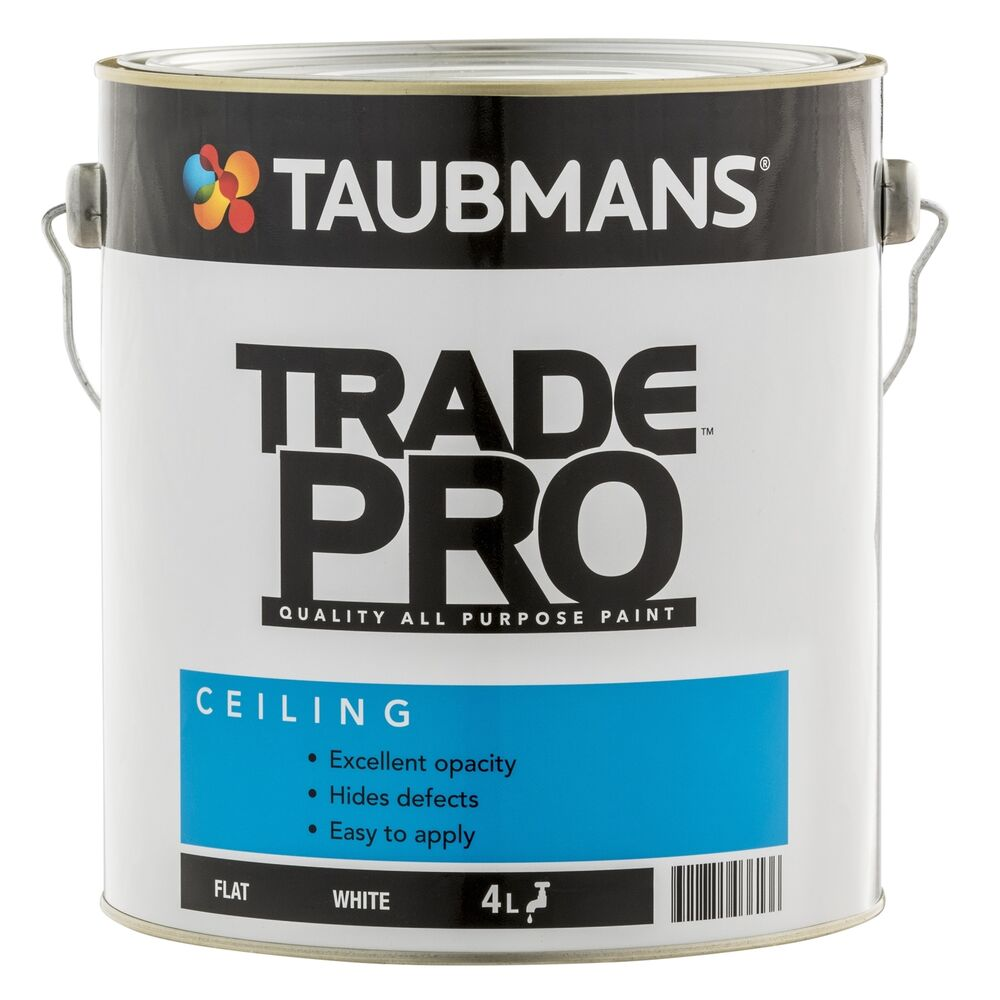 Taubmans Trade Pro CEILING PAINT Interior Low Splatter Water Based ...