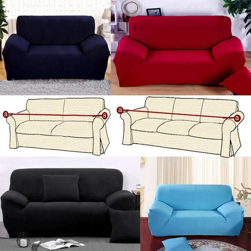 Slipcover Furniture Living Room: Living Room 2-3 Seater Sofa Decor Stretch Slipcovers Couch