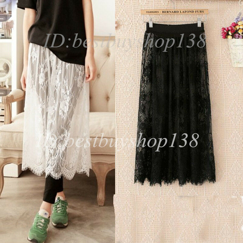 Women Lace Slip Skirt Extender Single Layer For