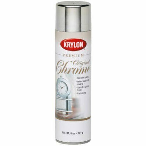 chrome premium metallic spray paint fast drying acid free 8 oz ebay. Black Bedroom Furniture Sets. Home Design Ideas