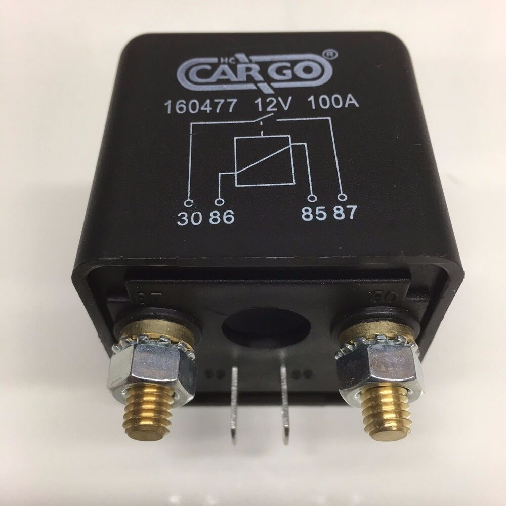 160477 072710 EQUIV 12V 100A 100 AMP HEAVY DUTY RELAY   eBay