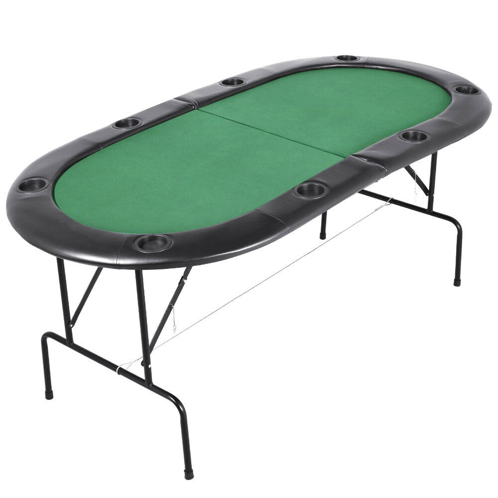 Poker table 1 82m folding top 8 players casino game w chip trays