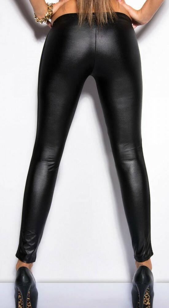 Sexy Ladies Mesh See through dancing club wear leggings faux leather lingerie UK | eBay