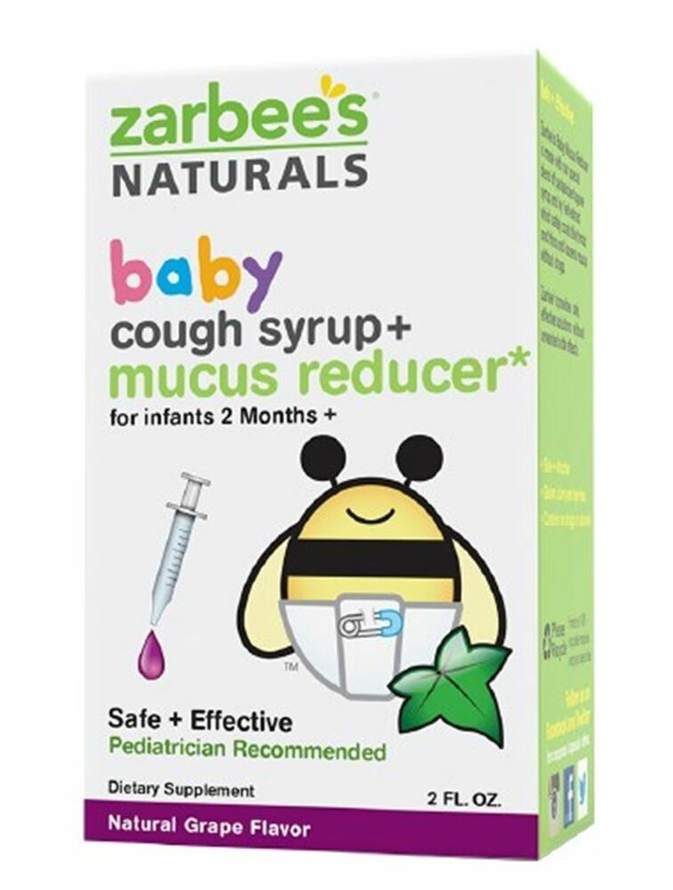 Zarbee S Baby Cough Syrup Mucus Reducer Grape 2 Oz Ebay