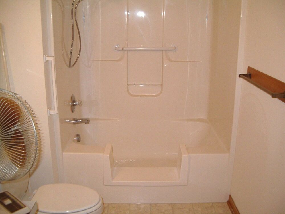 Walk In Bath To Shower Step Thru Insert DIY Conversion Kit Senior EBay