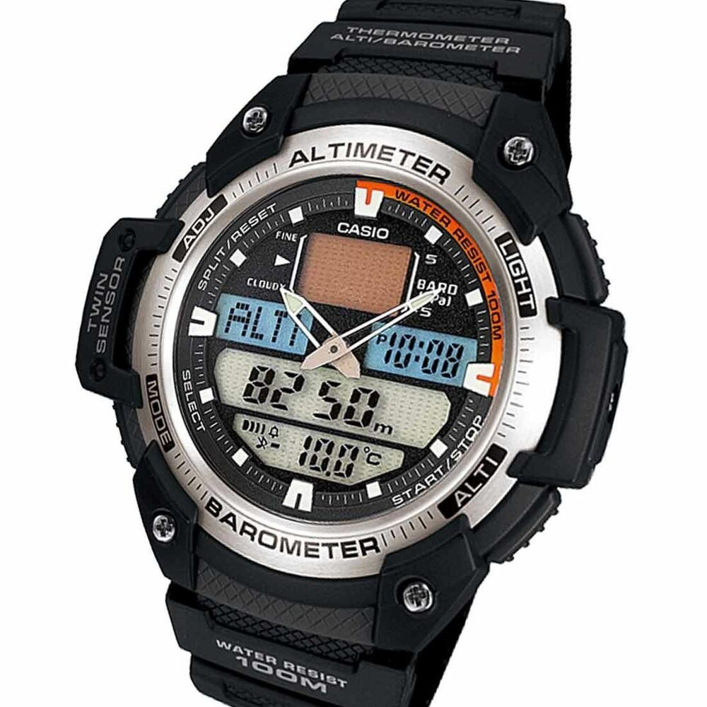 casio new sgw 400h 1b mens sports twin sensor watch altimeter barometer sgw 400 ebay
